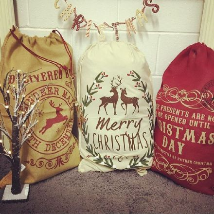 20% OFF Set of 3 Christmas Sacks